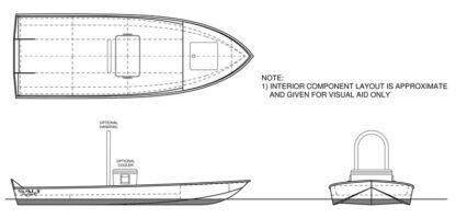 Flats River Skiff 12 Boat Plans