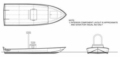 Flats River Skiff 12 Boat Plans